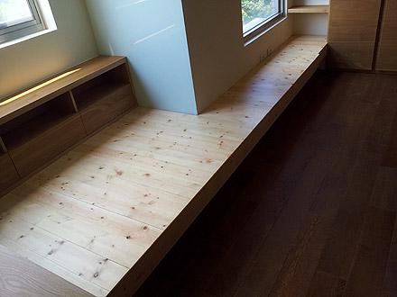 橡木浮雕地板施工